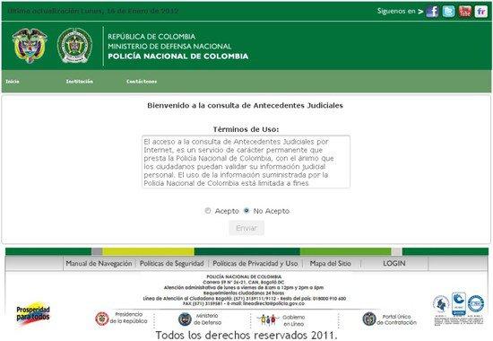 Antecedentes Judiciales en Colombia